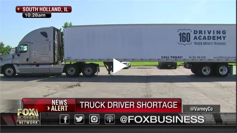 160 Driving School Featured in Fox News Story about Truck Driver Shortage