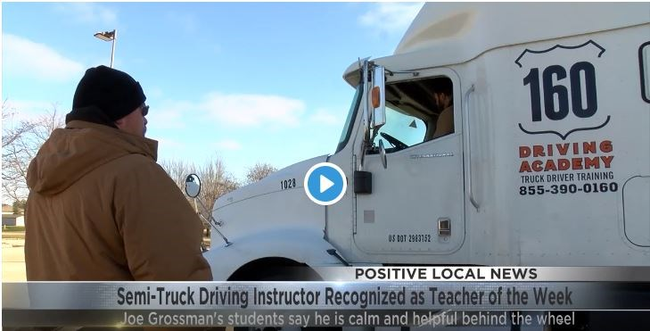 160 Driving Academy Instructor Named Teacher of the Week by Local News Station