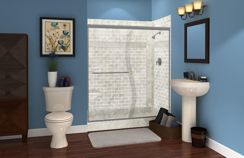 Best Shower Styles to Complement Cool Bathroom Colors