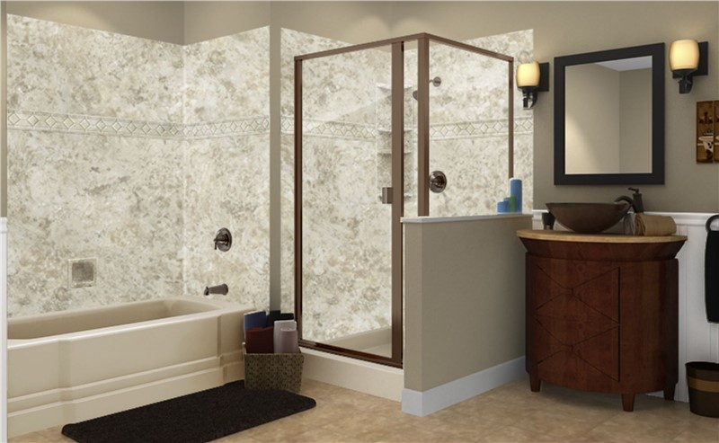 Bring Coziness to Your Bathroom with Warm Patterns and Tones