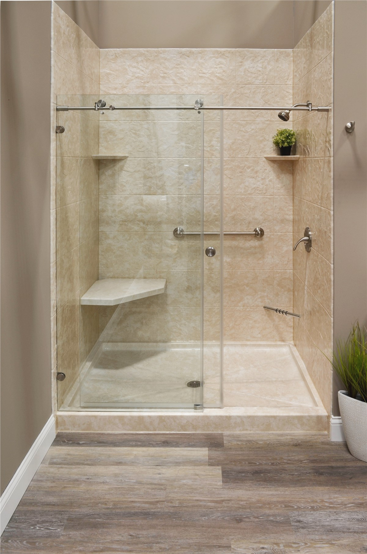 Tub conversions tub to shower conversion bath planet for Bathroom tub and shower designs