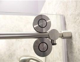Cayman Shower Door with Round Roller