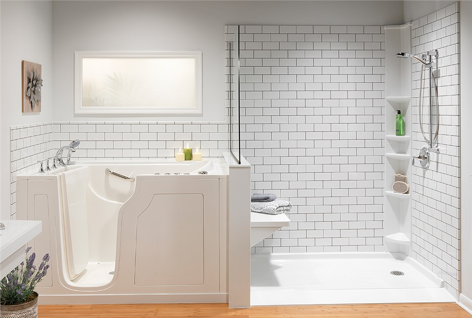 $750 off a bathtub/shower and $1,000 off a walk-in tub OR No Payments, No Interest for 18 Months*