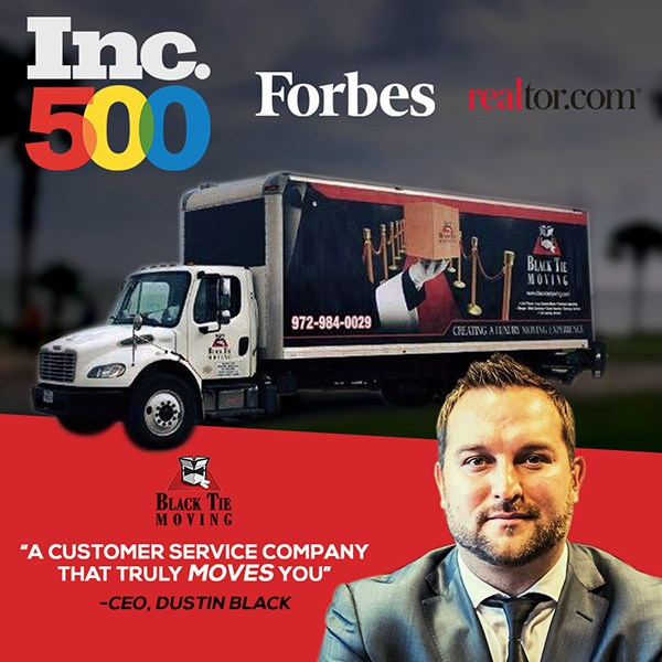 Black Tie Moving Joins the Forbes Inc. 500