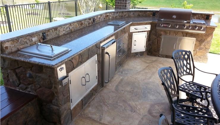 Outdoor Kitchens - Outdoor Kitchen Countertops Photo 1