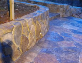 Stamped Concrete - Concrete Walkway Photo 3