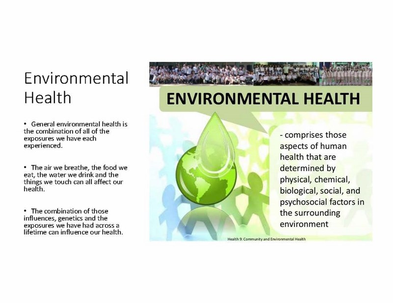 """What's All of This """"Environmental Health"""" Talk Mean?"""