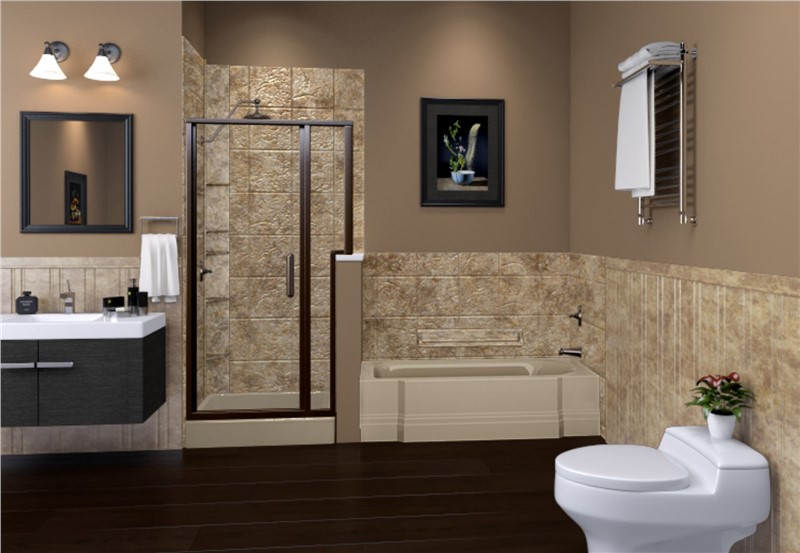 Make Your Bathroom Cozy with Warm Colors in the Bathing Area