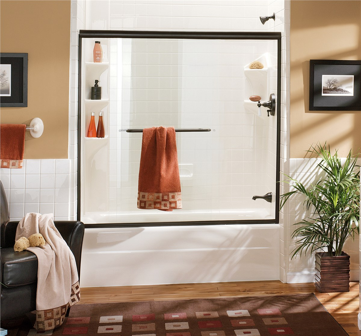 shower doors gallery - Bathtub Shower Doors