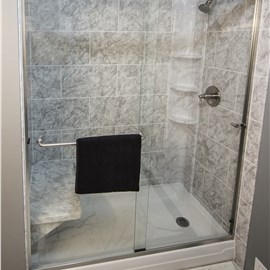 Shower Seat & Towel Bars Photo 3