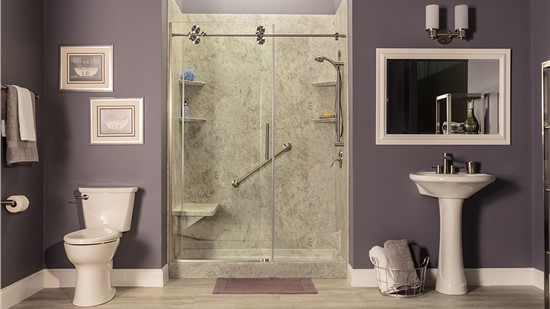 Free Semi-Frameless Shower Door OR No Payments, No Interest until 2022*