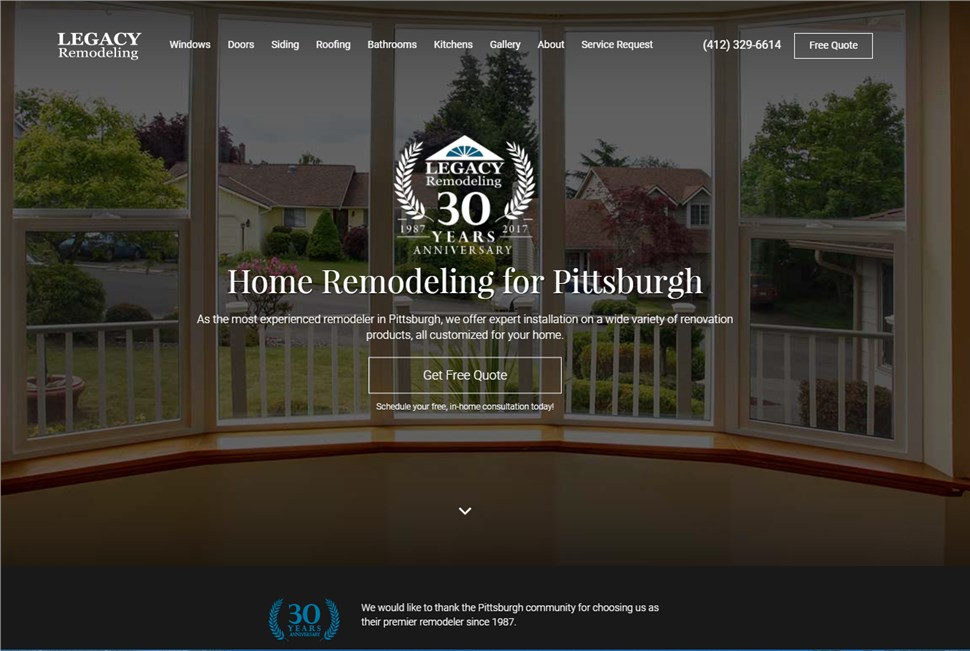 Proven lead generation for Legacy Remodeling