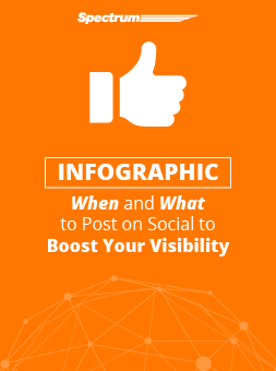 When and What to Post on Social to Boost Your Visibility [INFOGRAPHIC]