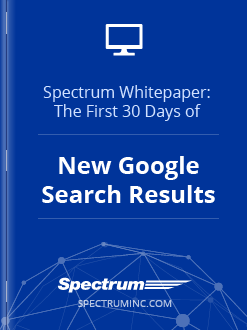 Spectrum Whitepaper: First Month of New Google Search Results