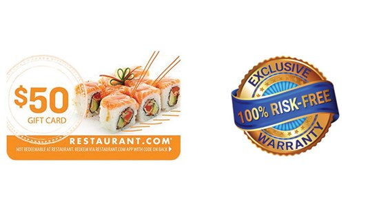 $50 Restaurant.com Gift Card With Your In Home Estimate